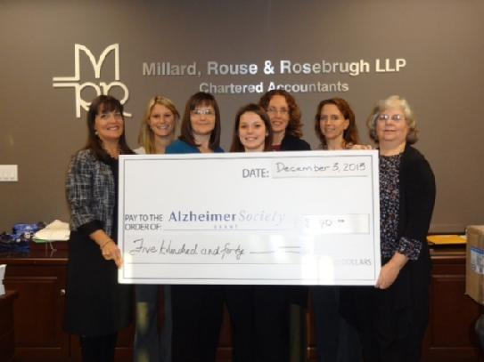 Money Raised for Alzheimer Society of Brant
